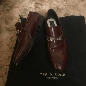 a637d3a547 rag & bone Shoes | Rag Bone Oxblood Patent Leather Cooper Loafers ...